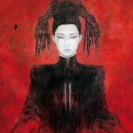162x130cm-JaponicasIII-Ink acrylic and oil on canvas-Romulo Royo